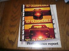 1987 Oldsmobile Trofeo 442 Calais GT Firenza GT Performance Report - Original