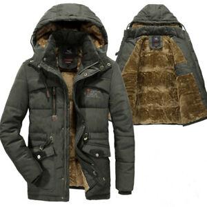 Men Winter Jacket Thick Warm Parka Hooded Military Jacket Snow Windbreaker Coat