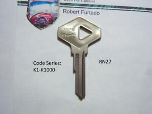 Key Blank for AMC Renault (secondary) 1983-88  (RN27)  See Applications