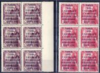Bloque de 6 sellos de España 1951 Visita Caudillo a Canarias 1088/1089  nuevos