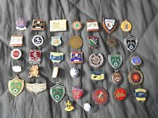 More details for collection / job lot of vintage enamel badges - speedway, skiing, archery, cars