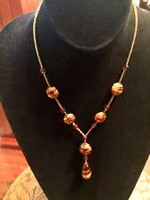 Antica Murrina Gold/Bronze Glass Beaded Necklace