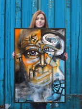 NEO Street Art Graffiti Print Urban Abstract Modern Office Poster Wall Vertical