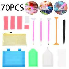 70x 5D Diamond Painting Tool Embroidery Kit Art  Accessories Pen Zipper Bag NEW
