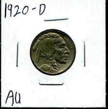 1920-D 5C Buffalo Nickel in AU Condition #00299