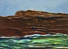 "MOUNTAIN RIVER LANDSCAPE Original Oil Seascape Painting 3""x4"" Julia Garcia NEW"