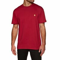 T-shirt uomo CARHARTT WIP S/S Chase I026391 100% cotone jersey Col. cardinal