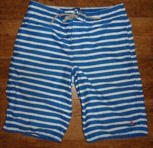 Boys Ralph Lauren Polo  Swim Shorts Blue White Striped Size Large Age 14-16