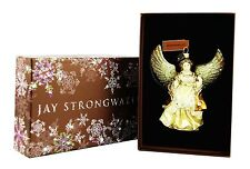 JAY STRONGWATER ANGEL GOLDEN PERL GLASS CHRISTMAS ORNAMENT ANGELIC NEW BOX