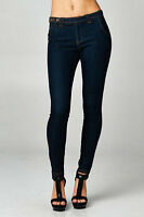 Dark Indigo Denim Skinny Jeans CELLO Slim Pants Trousers Jeggings light weight