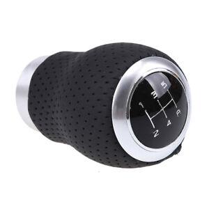 Black Car SUV Gear Stick Shift Knob Shifter Head PU Leather Manual MT Universal