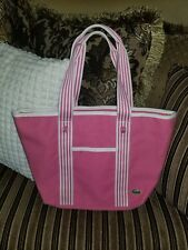 Nwd 2 PC Lacoste Pink Cotton Medium Tote Bag
