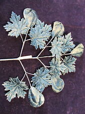 Vintage Millinery Flower Blue Velvet Leaf Fruit Lot for Hat Wedding + Hair LK