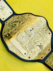 Wwe Big Gold World HeavyWeight Replica Championship Belt,24k Gold,4mm Zinc Plate