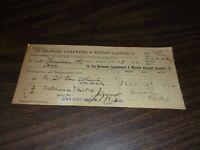 JULY 1892 DELAWARE LACKAWANNA & WESTERN FREIGHT BILL NORTH HUDSON COUNTY RAILWAY