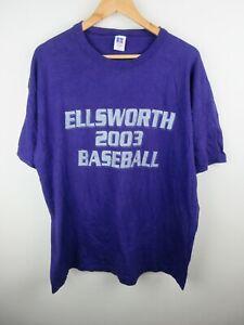 Ellsworth 2003 Baseball Mens T Shirt Size XL Russell Crew Neck Short Sleeve