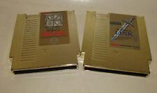 Zelda 1 I & 2 II Adventure of Link Gold for NES Nintendo *Working Saves* Nice