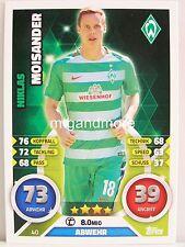 Match Attax 2016/17 Bundesliga - #040 Niklas Moisander - SV Werder Bremen