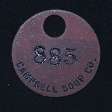 30mm Campbell Soup Co 885 Pressed Card Board Locker Tag Fob Keychain