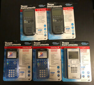 (5) Texas Instruments Graphing Calculator Bundle - NEW / Unopened