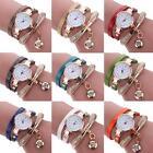 Women's Fashion Watch Crystal Leather Analog Quartz Bracelet Dress Wrist Watches