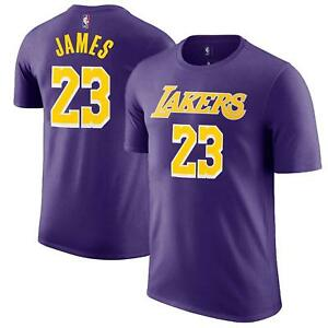 LeBron James Los Angeles Lakers LA #23 NBA Purple Boys T-Shirt - Youth