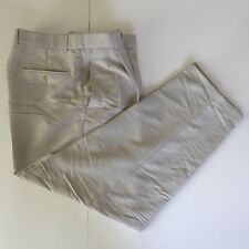Lacoste Pleated Front Pants Men Size 32 x 30 Cuffed Leg Formal Beigetone Vintage