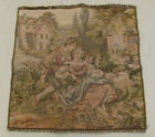 """Square Tapestry - 19.5"""" x 19.5"""" - Couple with Lamb - European"""