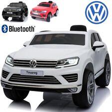 4X4 SUV Voiture électrique enfant bébé Touareg 12 V pack luxe bluetooth blanc