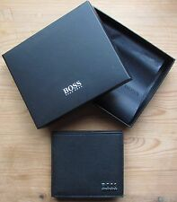 Hugo BOSS Men's Black Leather Wallet 'Mensur' Bi-fold, New Style 50305560