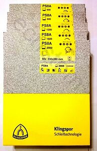 Wet and dry sandpaper mix mixed grit 1000 1200 1500 2000 2500 KLINGSPOR PS8A