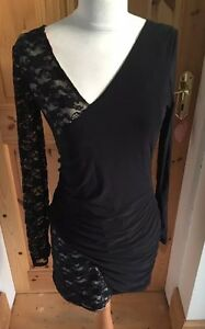 Ladies Size 10 Stretch Bodycon Crossover Lace Sexy Dress NWT