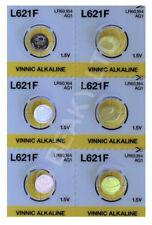 Genuine Vinnic AG1 L621 LR621 164 Mercury Free Alkaline Battery 1.5v [6-Pack]