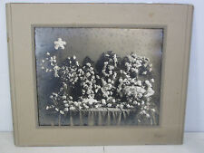 """Antique Funeral Flowers Photograph """"Father"""""""