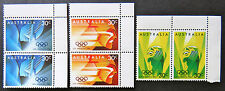 Australian Decimal Stamps:1984 23rd Olympic Games, Los Angeles-Set of 3x2 TabMNH