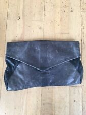 Jas MB Large Grey Leather Clutch Bag