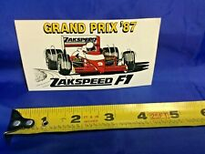 FORMULA 1 F1 RACING WEST ZAKSPEED 1987 Team Logo Decal NEW VINTAGE