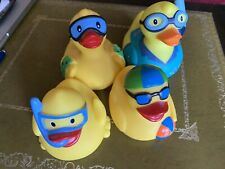 Collection Of 4 Swimming Ducks Rubber Ducky