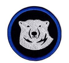 Polar Bear Face Patch Bear blue Badge Iron on Patch