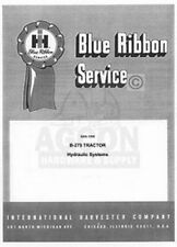 International harvestor B-275 B275 Tractor Hydraulic Systems Service Manual IH