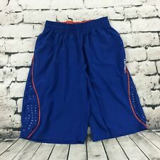 And 1 And One Mens Athletic Shorts Basketball Lightweight Blue Perforated Medium