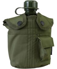 US Army Style Water Bottle Canteen Olive Green Military Cadet