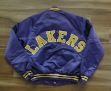 LOS ANGELES LAKERS VINTAGE SATIN STARTER JACKET CHALKLINE PURPLE MEN M