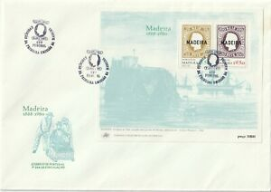1980 Portugal/Madeira oversize FDC cover112th Anniversary of First Stamp Issues
