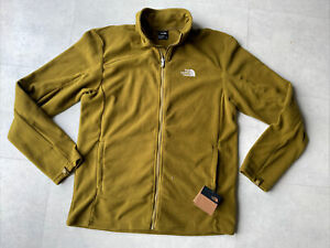 The North Face 100 Glacier Men's Full Zip Jacket In Olive Green Size Medium £65