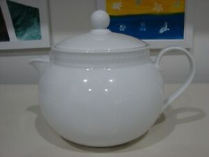 """Crate and Barrel Staccato Teapot  6"""" H."""