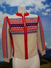 Norweger von Geiger original Vintage rot warme Damen Norwegerjacke Jacke Gr.32