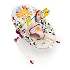 Bright Starts Playful Pinwheels Bouncer Multi-Color Safari Baby Vibrating Seat