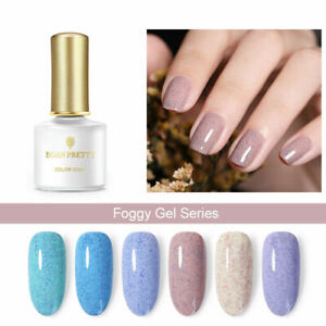 NEW BORN PRETTY 6ml Foggy Gel Polish Nail Art UV Gel Blue Purple Sequins Soak