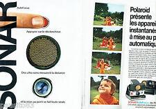 PUBLICITE ADVERTISING 066  1978  Polaroid appareil photo (2p) Sonar auto-focus